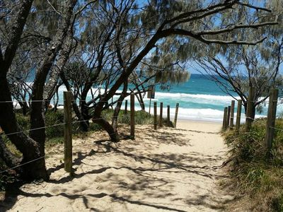 Easy access to the beach, with two patrolled areas a short stroll away