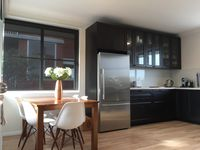 Huge brand new kitchen with informal eating area