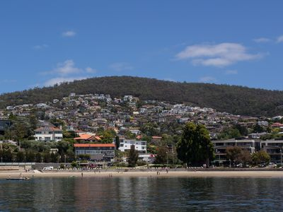 Carolina from the water - closest white building centre
