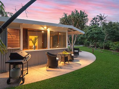 Your own private BBQ and seating area