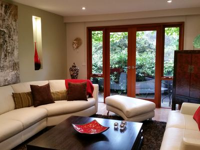 Beautiful living room with Natuzzi couches