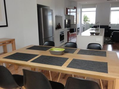Main Living, Dining and Kitchen area.