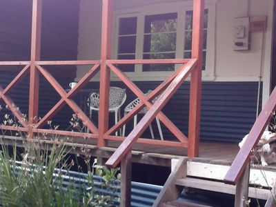Enjoy sunrise or sunset on the tranquil front verandah
