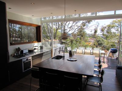 Open kitchen to balcony