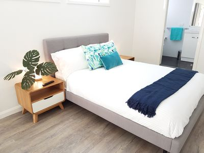 Queen size bed with quality mattress