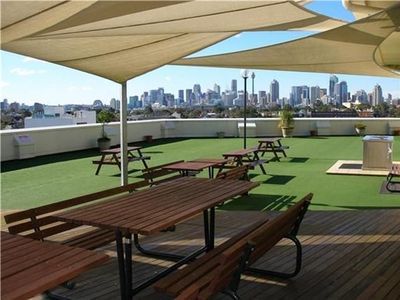 Rooftop views to Harbour Bridge and Sydney CBD