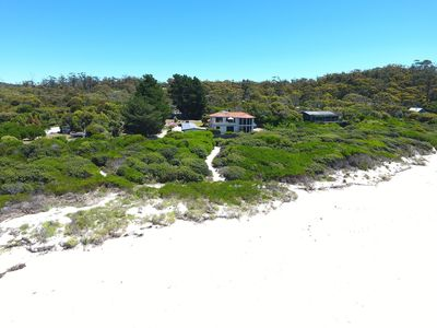 View looking back to the house from the beach