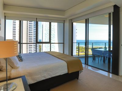 Master Bedroom with uninterrupted views of the ocean