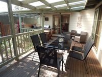 Undercover BBQ Decking with 2 Dining Settings for Six