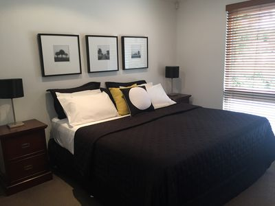 Master bedroom with luxury King sized bed and ensuite