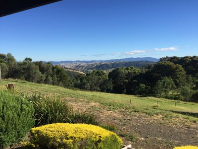 View from the veranda down the valley