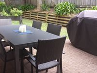 Private courtyard with outdoor dinning and BBQ ,Herb Garden