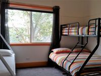 2BR, Double bed bunks. Double beds on the bottom, single beds on the top.