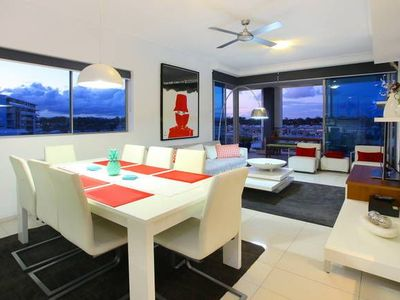 Open plan dining/lounge and patio.