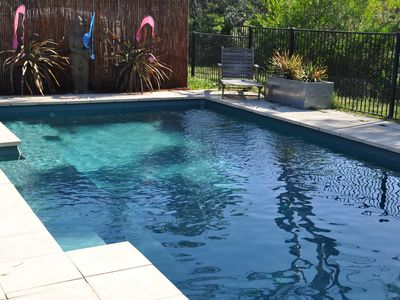 9.4 metre pool - solar heated Sept-April