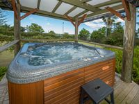 Outdoor covered heated spa