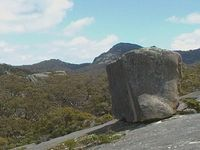 Cube rock and Mt Cameron