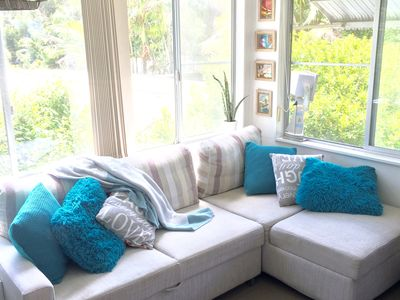 Sunroom is perfect for taking time out