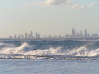 The sea with Surfers Paradise in background