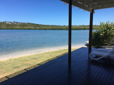 Absolute waterfront property with direct beach access